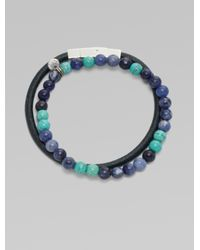 Saks Fifth Avenue | Blue Beaded Bracelet Set for Men | Lyst
