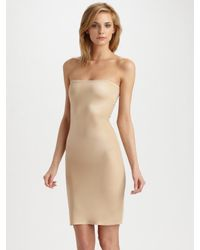 Spanx | Natural Simplicity Strapless Full Slip | Lyst
