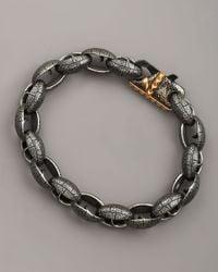 Stephen Webster | Black Matte Steel Link Bracelet for Men | Lyst