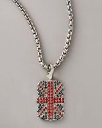 Stephen Webster Metallic Union Jack Necklace for men