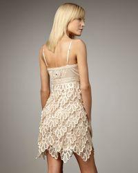 Sue Wong | Metallic Layered Skirt Cocktail Dress | Lyst