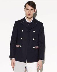 Thom Browne | Blue Cotton Canvas Sailors Coat for Men | Lyst