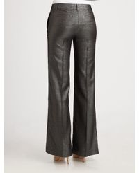 Tory Burch - Black Caylee Sparkle Wool-blend Trouser Pant - Lyst
