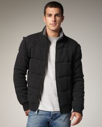 UGG | Gray Wool/cashmere Puffer Jacket for Men | Lyst