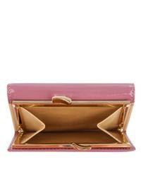 Vivienne Westwood Pink Patent Leather Ebury Clip Purse