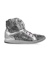 Y-3 Metallic Shizuka Hi-top Sneakers