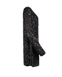 AllSaints Black Biella Fraise Silk-crepe Dress