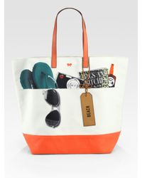 Anya Hindmarch | Multicolor Natural Beach Tote | Lyst
