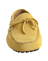 Car Shoe - Yellow Suede Boatstitch Moc Loafers for Men - Lyst