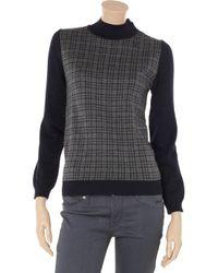 Daks Blue Maglia Checked Wool Sweater