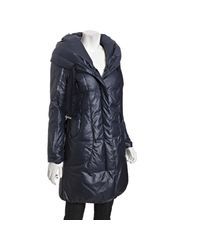 Elie Tahari - Empire Blue Quilted Lisa Down Hooded Coat - Lyst