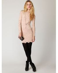 Free People | Natural High Neck Victorian Lace Dress | Lyst