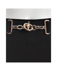 Gucci - Black Stretch Wool Knit Horsebit Detail Pencil Skirt - Lyst