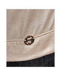 Gucci | Natural Champagne Sateen Beaded Neckline Long Sleeve Blouse | Lyst