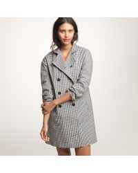 J.Crew - Gray Mackintosh® Rousay Trench Coat in Gingham - Lyst