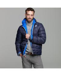 J.Crew | Blue K-way® Reversible Down Jacket for Men | Lyst