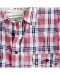 J.Crew | Blue Kato` / Aaa Flannel Check Shirt for Men | Lyst