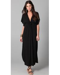 Josa Tulum | Black Rustic Long Cover Up Dress | Lyst