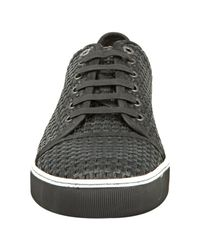 Lanvin | Black Woven Leather Sneakers for Men | Lyst