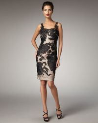 Mandalay - Black Two-tone Lace Dress - Lyst