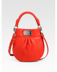 Marc By Marc Jacobs | Red Classic Q Mini Hillier Hobo Bag | Lyst