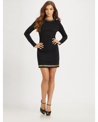 MICHAEL Michael Kors | Black Long-sleeve Dress | Lyst