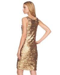 Michael Kors | Metallic Paillette Dress | Lyst