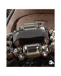 Miu Miu - Black Glitter Embellished Ballet Flats - Lyst