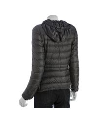 Moncler - Gray Grey Quilted Mayotte Down Filled Hooded Jacket - Lyst