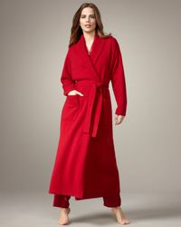Neiman Marcus | Long Cashmere Robe, Red | Lyst