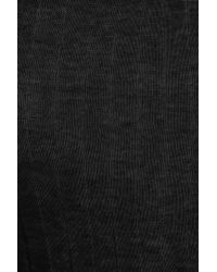 Rick Owens | Black Ribbed Fine-knit Cotton Top | Lyst