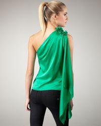 Robert Rodriguez - Green Applique Silk Top - Lyst