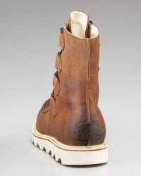 Sorel | Brown Mad Leather Boot for Men | Lyst