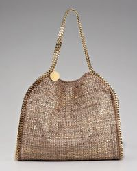 Stella McCartney - Metallic Boucle Falabella Bag - Lyst