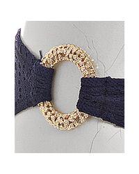 Trina Turk - Blue Navy Crochet Knit Hipster Bikini Bottom - Lyst