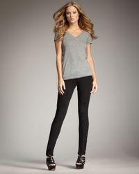 True Religion | Black Julie Crystal-button Ponte Skinny Pants | Lyst