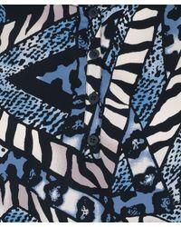 Tucker Blue Animal Print Tunic Dress