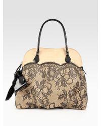 Valentino | Natural Straw & Lace Handbag | Lyst