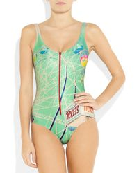 We Are Handsome Green The Carnival Printed Swimsuit