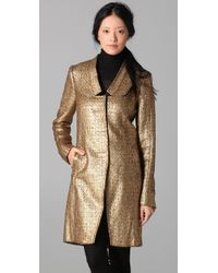 Adam Lippes | Long Metallic Tweed Coat | Lyst