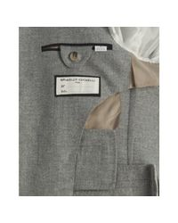 Brunello Cucinelli | Gray Grey Cashmere-silk 3-button Blazer for Men | Lyst