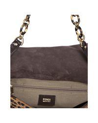 Fendi | Brown Leopard Calf Hair Mama Shoulder Bag | Lyst