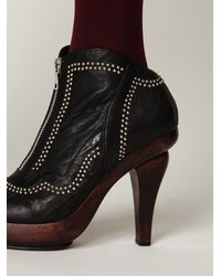 Free People | Black Galveston Stud Boot | Lyst