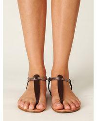 Free People | Brown Dewey Thong Sandal | Lyst