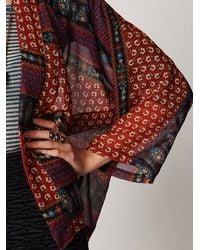 Free People | Red Paisley Printed Kimono | Lyst
