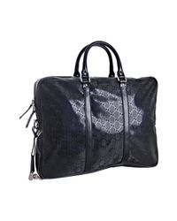 Gucci | Dark Blue Gg Imprime Medium Briefcase for Men | Lyst