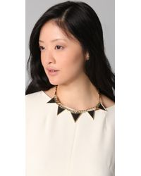 House of Harlow 1960 Metallic Triangle Armor Five Station Necklace
