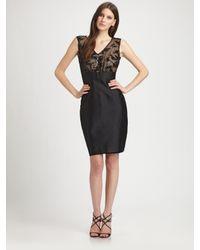 Kay Unger Black Sequined Dress