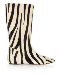 Marni Multicolor Zebra-print Calf Hair Boots