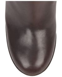Marni Brown Wooden-heeled Leather Knee Boots